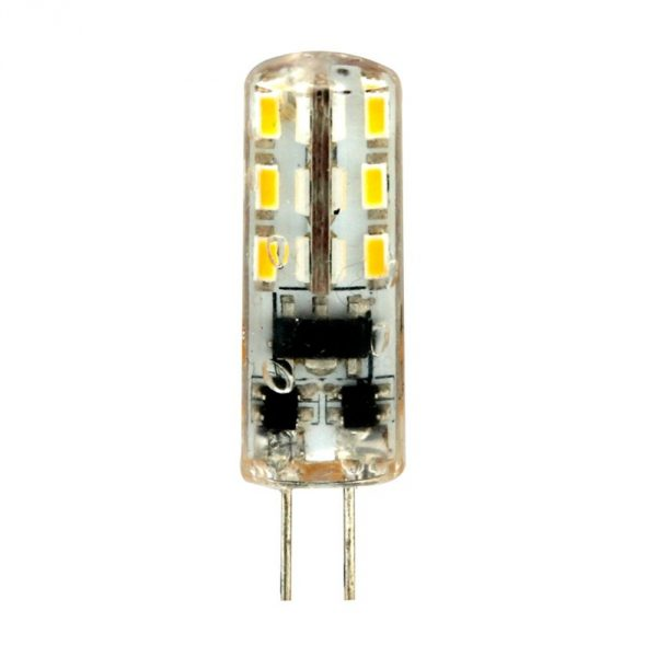 Лампа светодиодная LED 2вт 12в G4 белый капсульная (LB-420 24LED)
